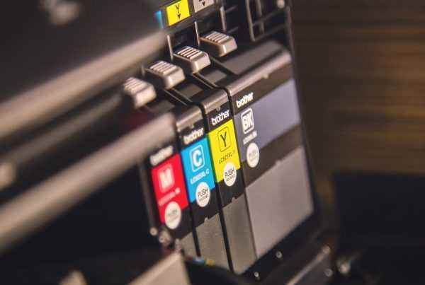 Printer with ink cartridges