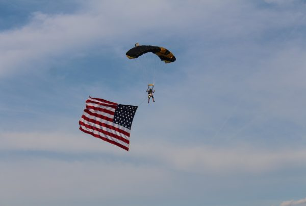 Skydive with Flag