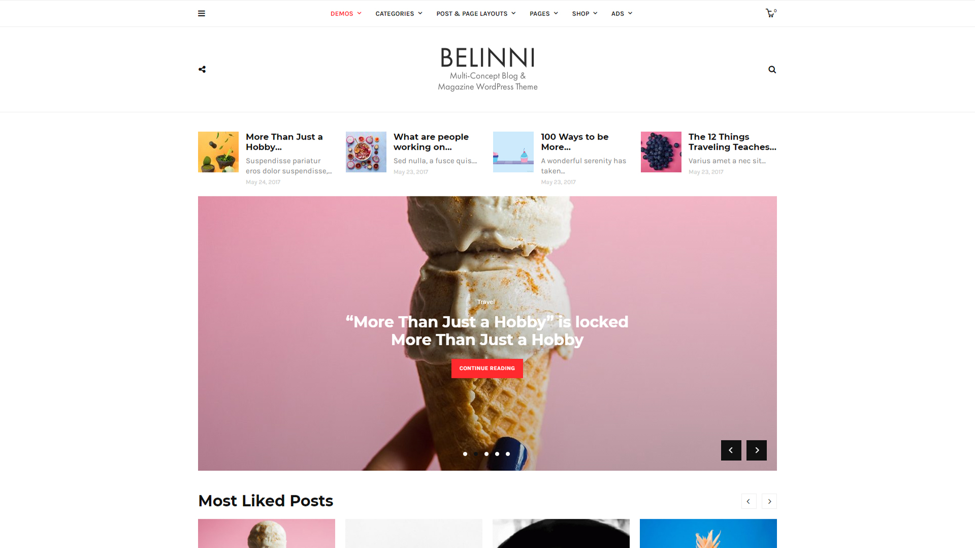 Belinni Theme For Starting A WordPress Blog